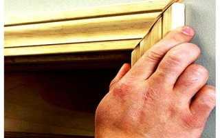 Как собрать наличник на дверь?