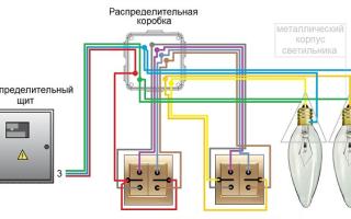 Проходной двухклавишный переключатель схема подключения