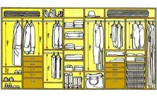 Как правильно расположить полки в шкафу купе?