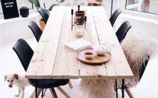 Как сделать обеденный стол из дерева?