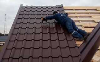 Как правильно накрыть крышу металлочерепицей
