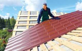 Стоимость покрытия крыши металлочерепицей за квадратный метр