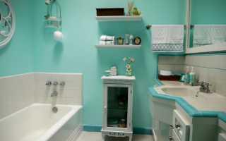 Отделка стен в ванной комнате стекловолокнистыми обоями
